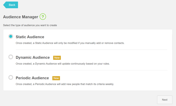 1 Audience Manager Static Dynamic Periodic
