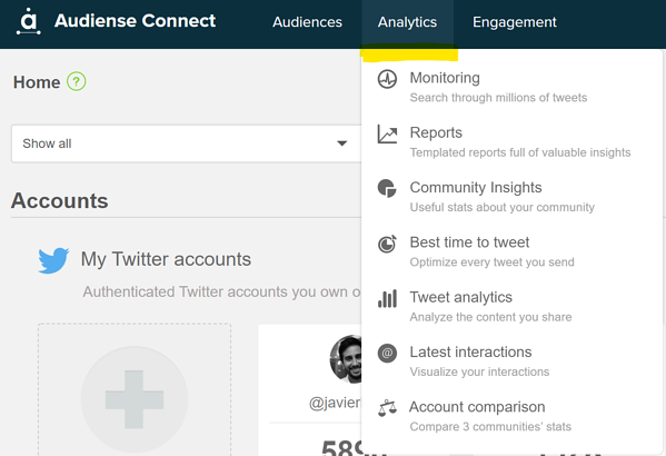 12 Connect Analytics tab