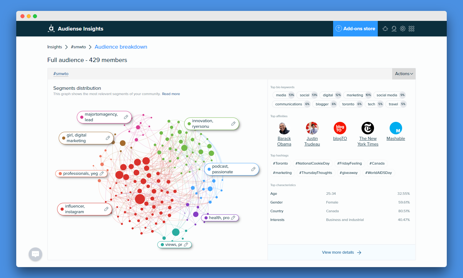 Audiense Insights - Audience Intelligence Report - Automated Segment Naming