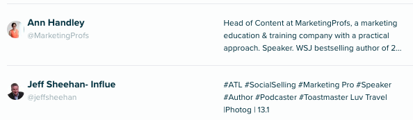 Audiense Insights - Social Intelligence - Top macro influencers