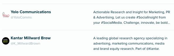 Audiense Insights - Social Intelligence - Top agencies #SIWorld2018