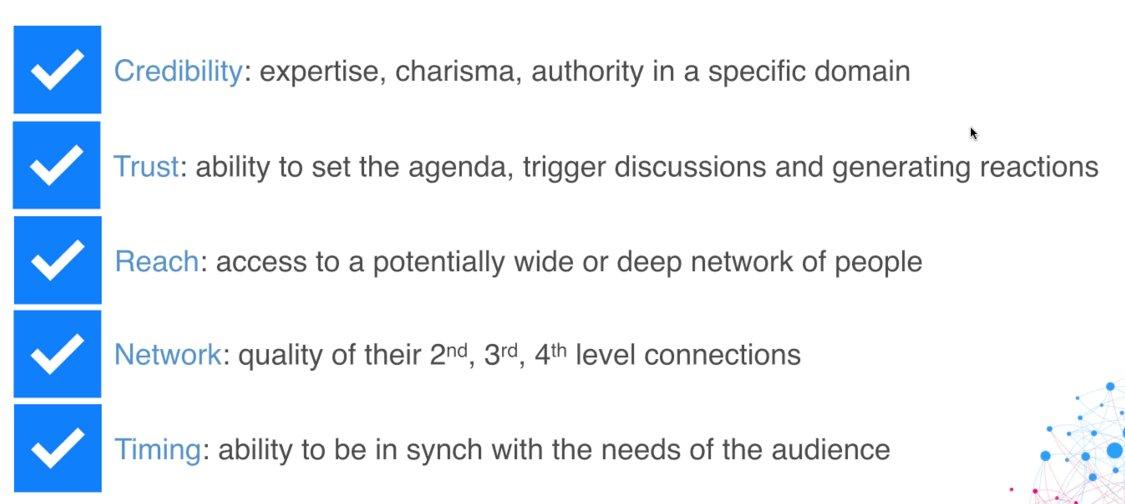 Influencer characteristics