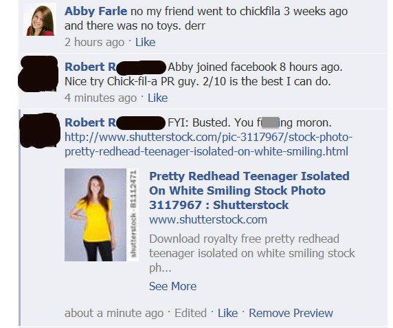 Chick-Fil-A Abby Farle Fail Facebook