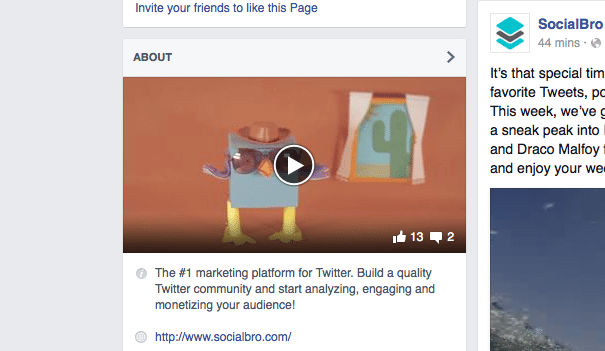 Facebook Video About Me Bio Pages Embed