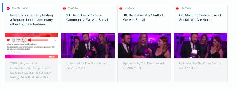 Audiense Insights - Social Buzz Awards - Hot Content