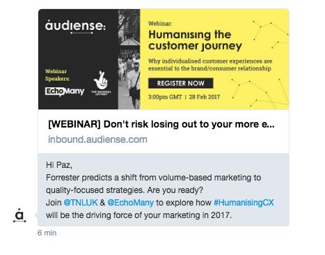 Twitter DM Example Offer Tool Send Marketing Social Media