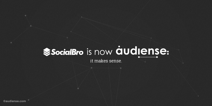 SocialBro Is Now Audiense Rename New Name Rebrand identity company change social media data marketing