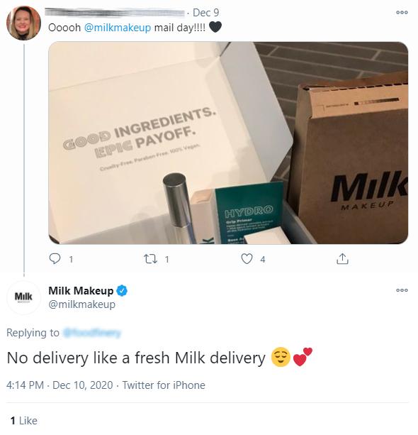 Audiense blog - Milk Makeup Twitter