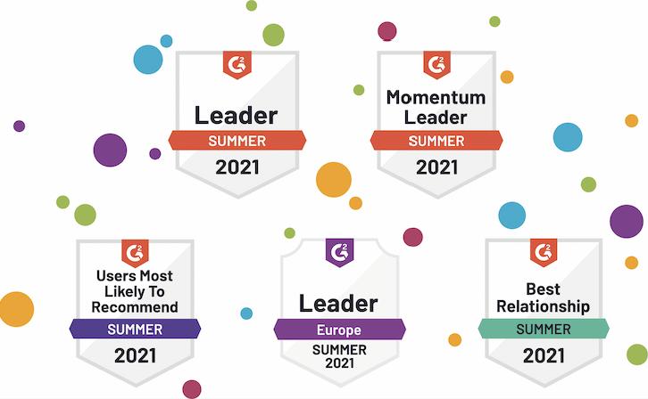 Audiense blog - G2 Summer 2021 Reports - badges