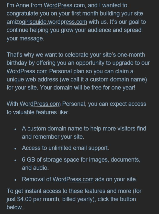 Audiense blog - WordPress welcoming new users and easing them into the experience
